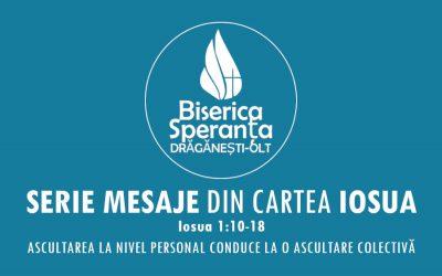 Mesaje Biblice – Cartea Iosua